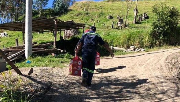 ENTREGA DE KITS DE ALIMENTOS A PERSONAS CON DISCAPACIDAD Y ADULTOS MAYORES DE LA PARROQUIA.
